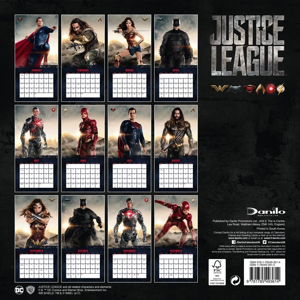 Justice League: una foto del calendario
