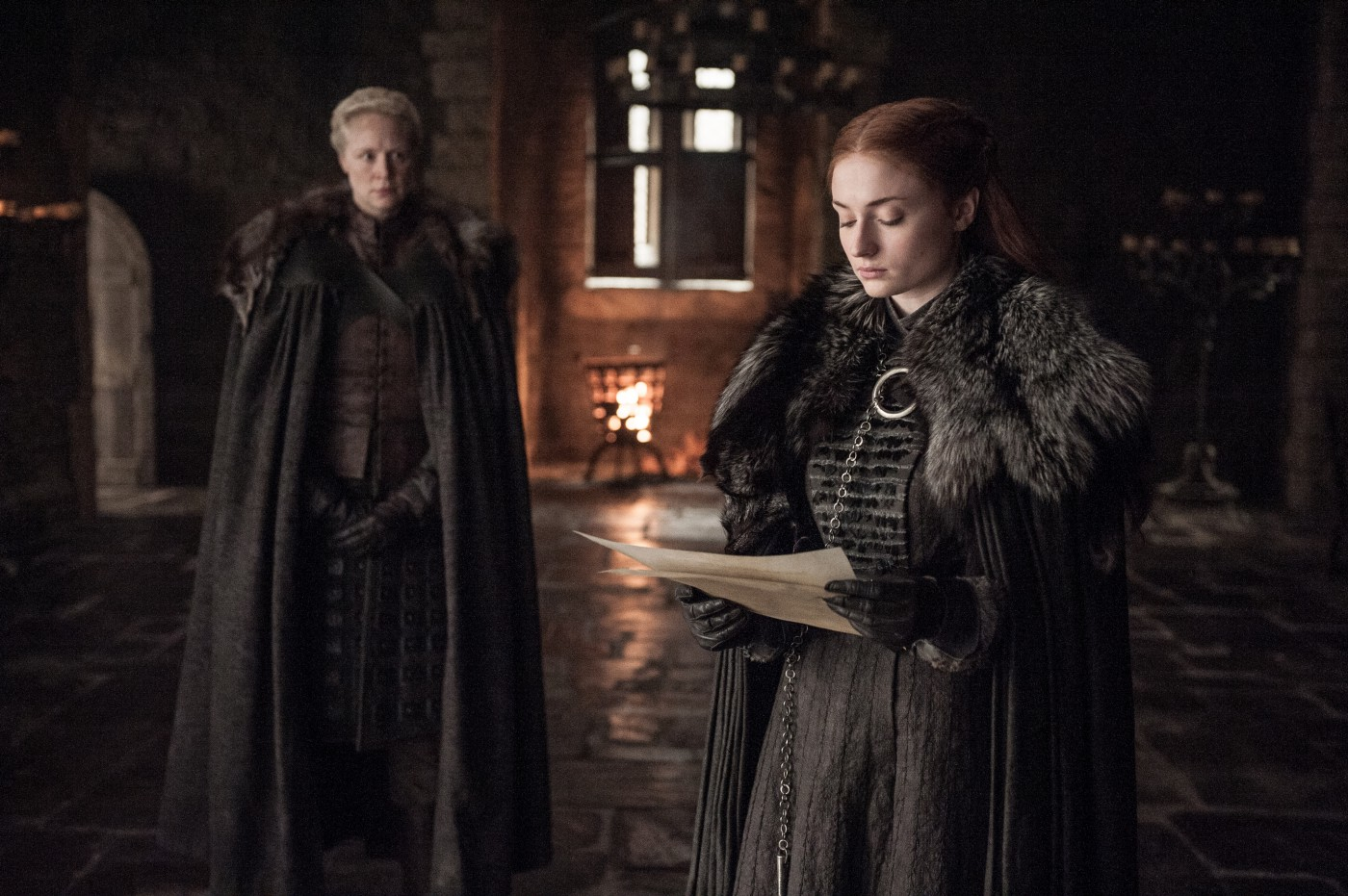 Il Trono di Spade: Gwendoline Christie e Sophie Turner in Death is the Enemy