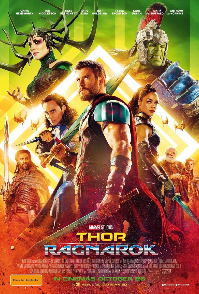 Thor: Ragnarok, un poster del film