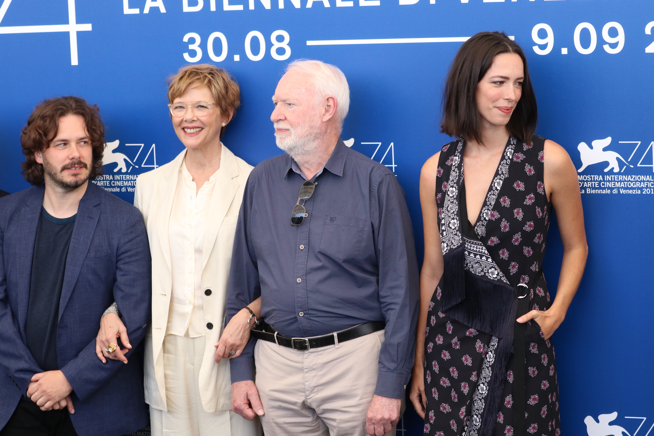 Venezia 2017: Edgar Wright, David Stratton, Annette Bening, Rebecca Hall al photocall delle giurie