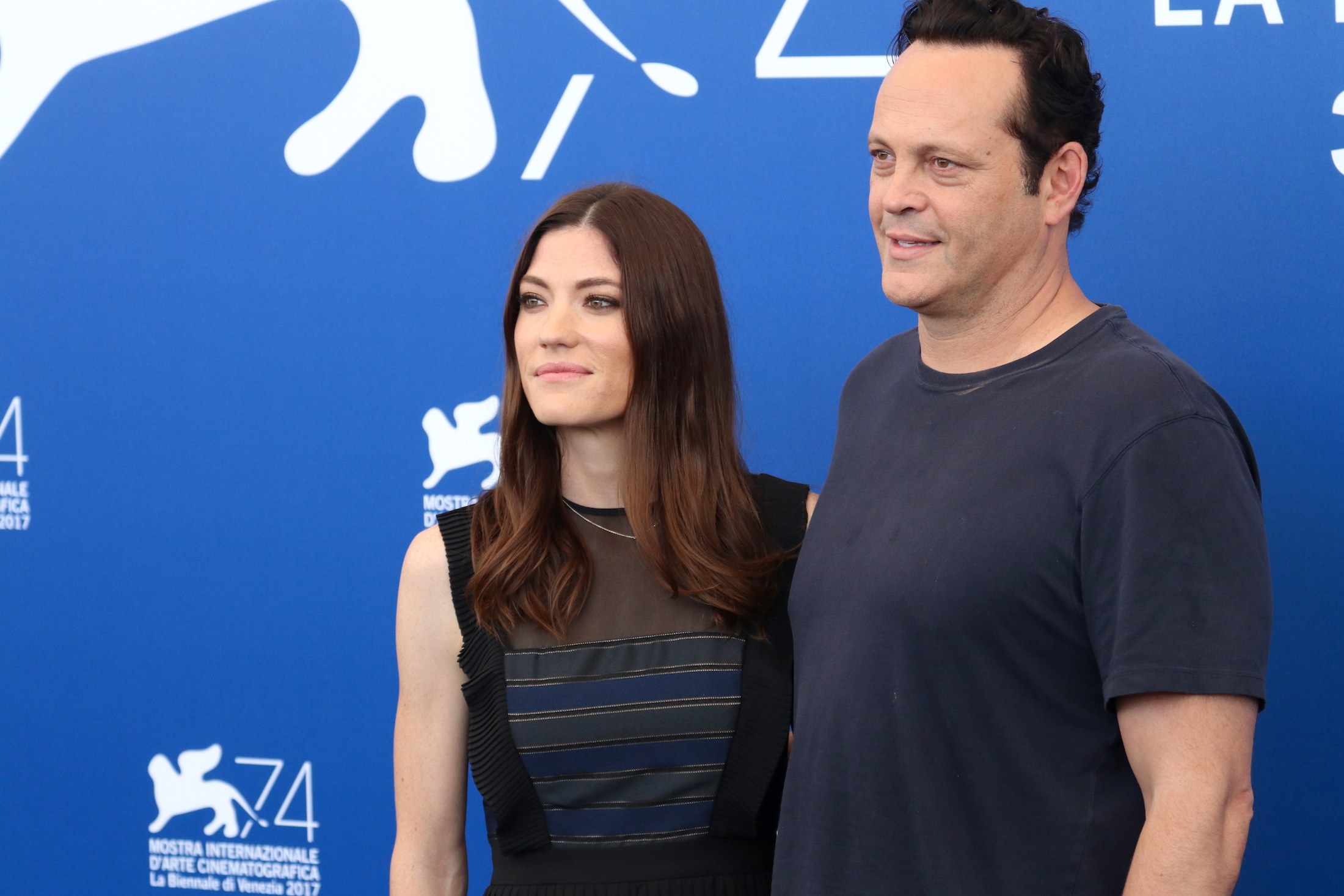 Venezia 2017: Vince Vaughn e Jennifer Carpenter al photocall di Brawl in Cell Block 99