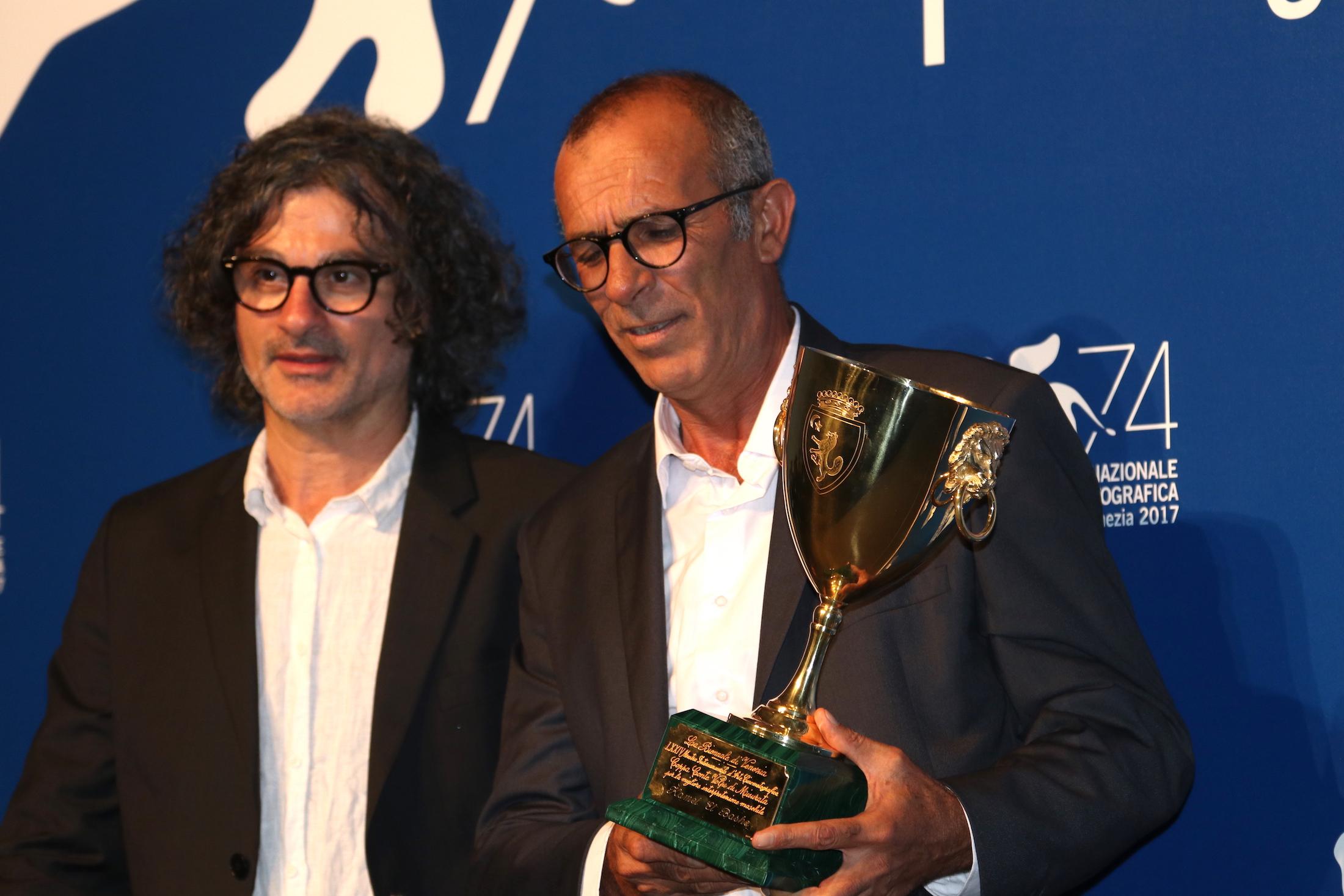 Venezia 2017: Kamel El Basha al photocall dei premiati