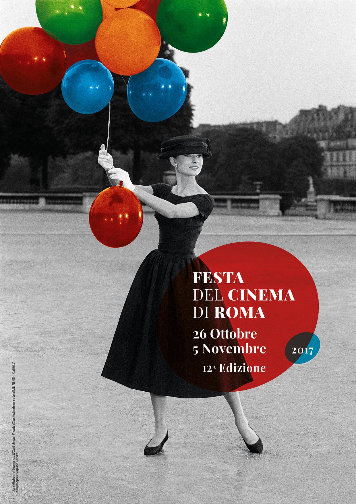 Audrey Hepburn sul manifesto di Roma 2017