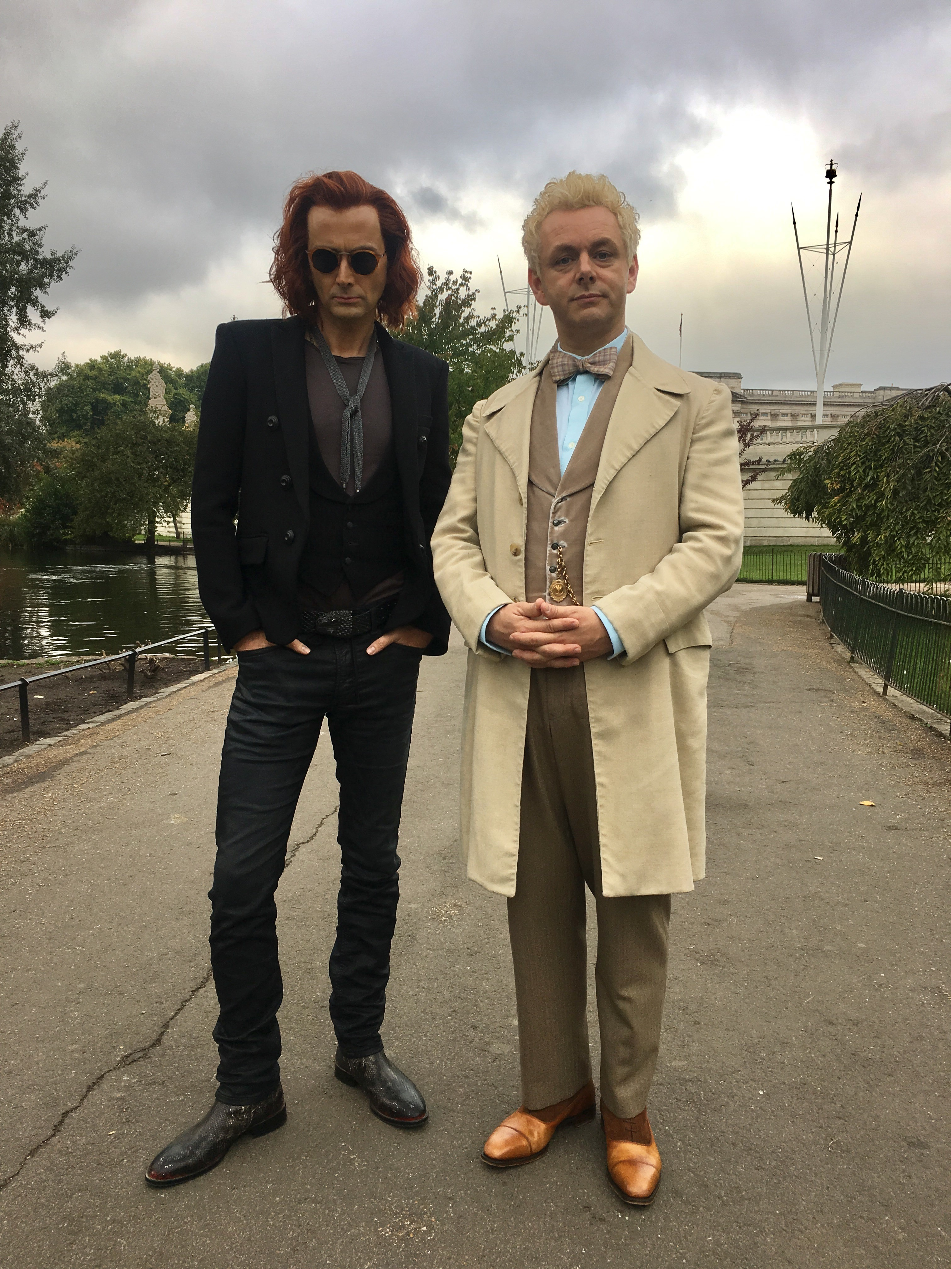 Good Omens: David Tennant e Michael Sheen sul set