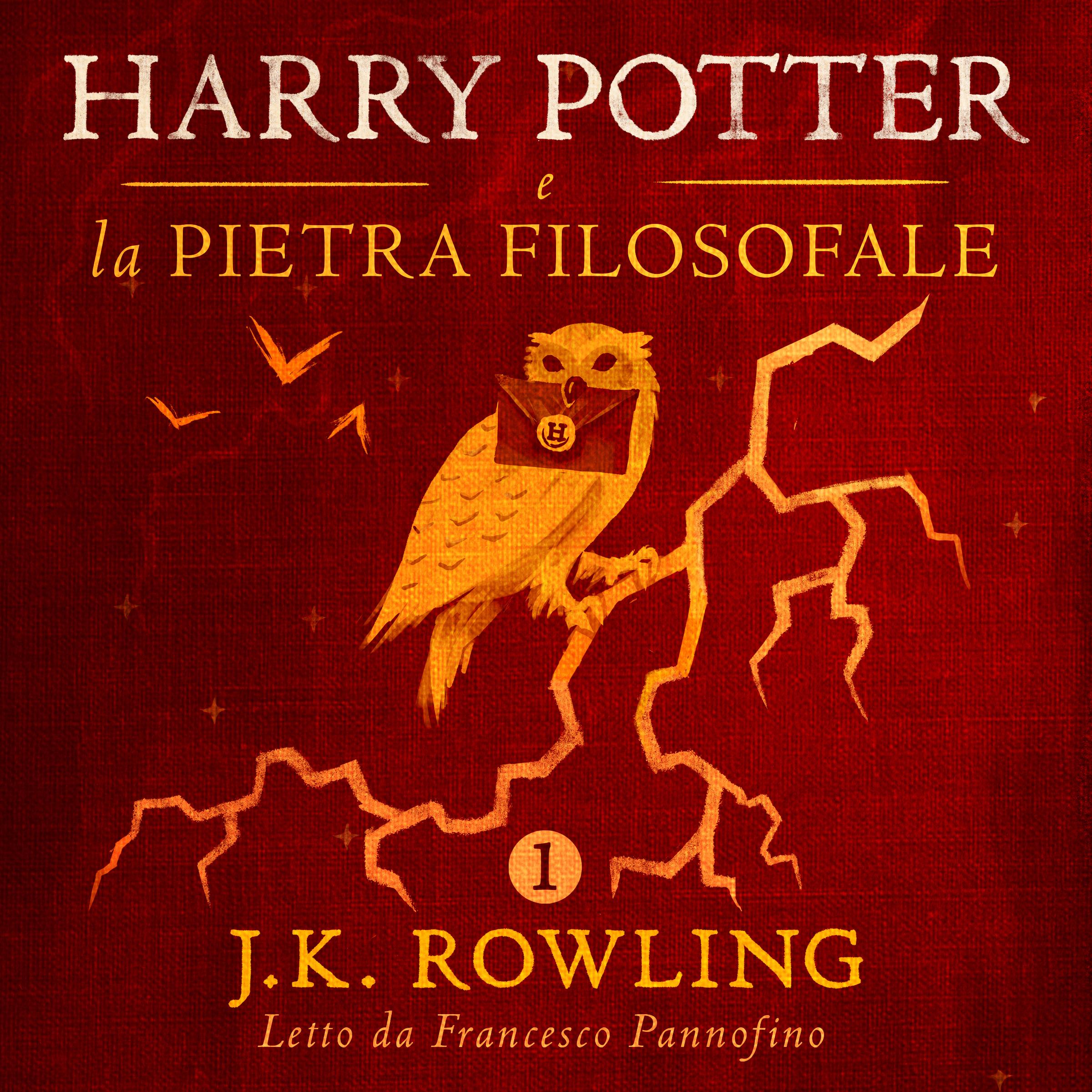 Harry Potter e la pietra filosofale: la cover dell'audiolibro