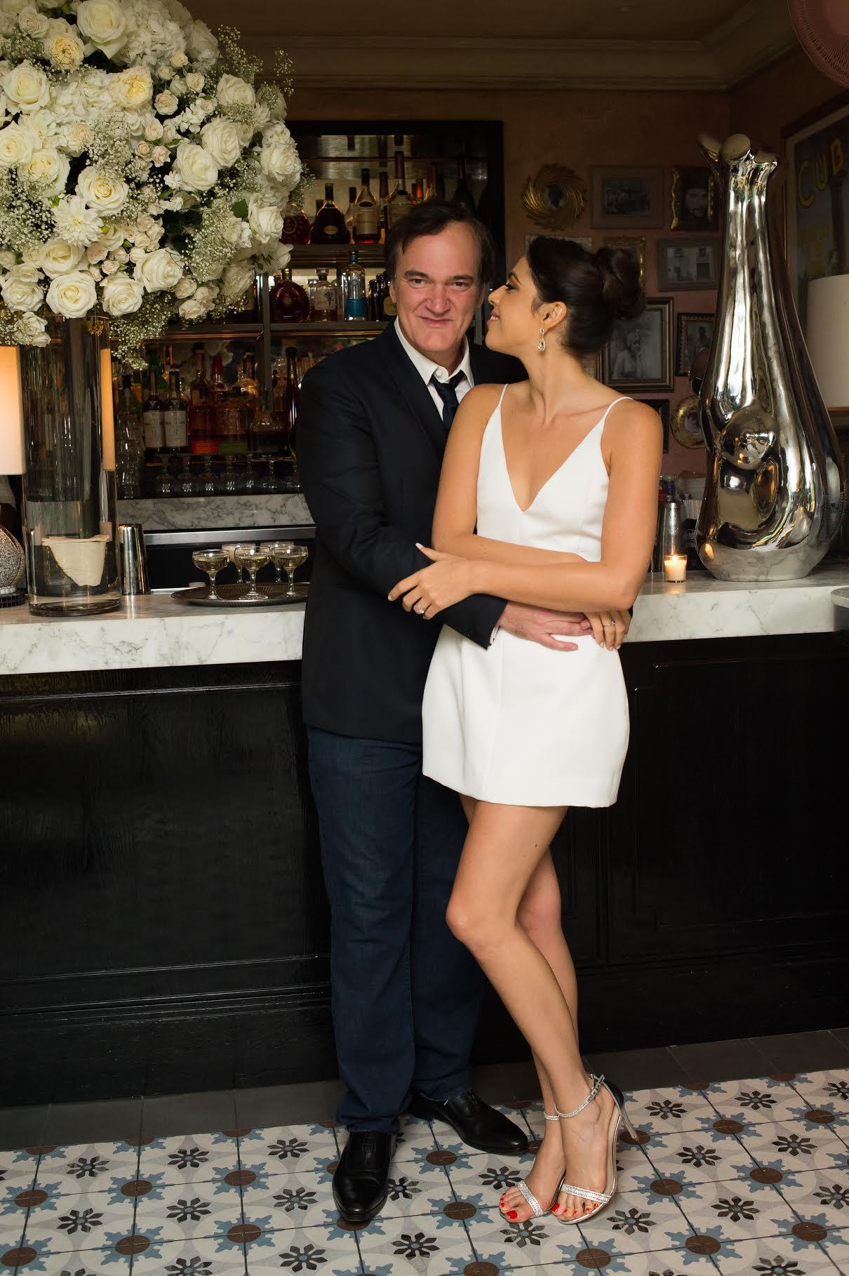 Quentin Tarantino festeggia il fidanzamento con Daniella Pick