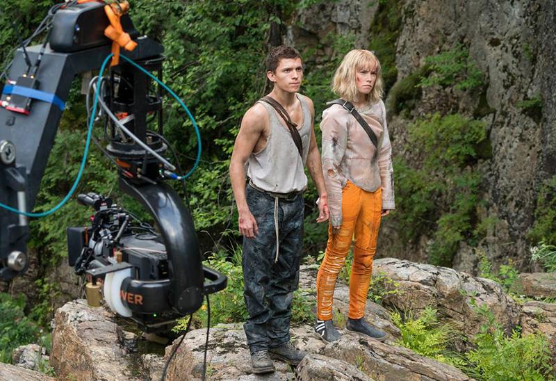 Chaos Walking: Daisy Ridley e Tom Holland sul set del film