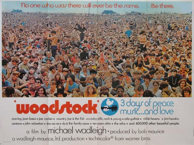 Woodstock: una locandina del film di Michael Wadleigh