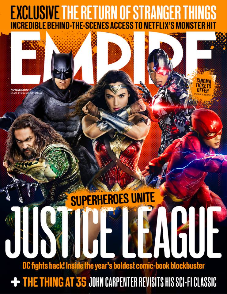 Justice League, la copertina di Empire