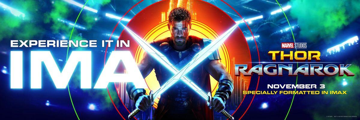 Thor: Ragnarok, un banner del film