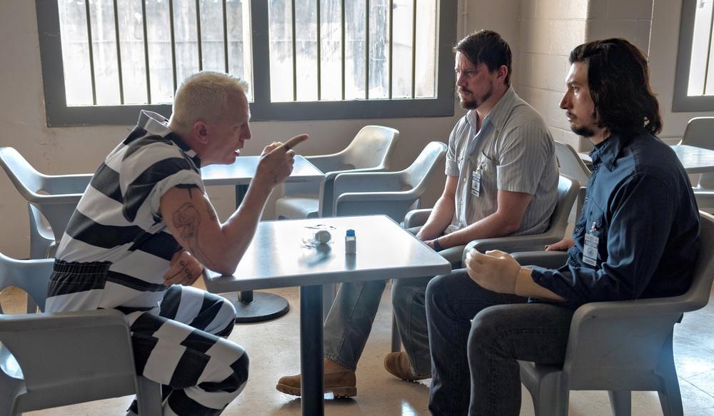 Logan Lucky: Daniel Craig, Channing Tatum e Adam Driver in una scena del film