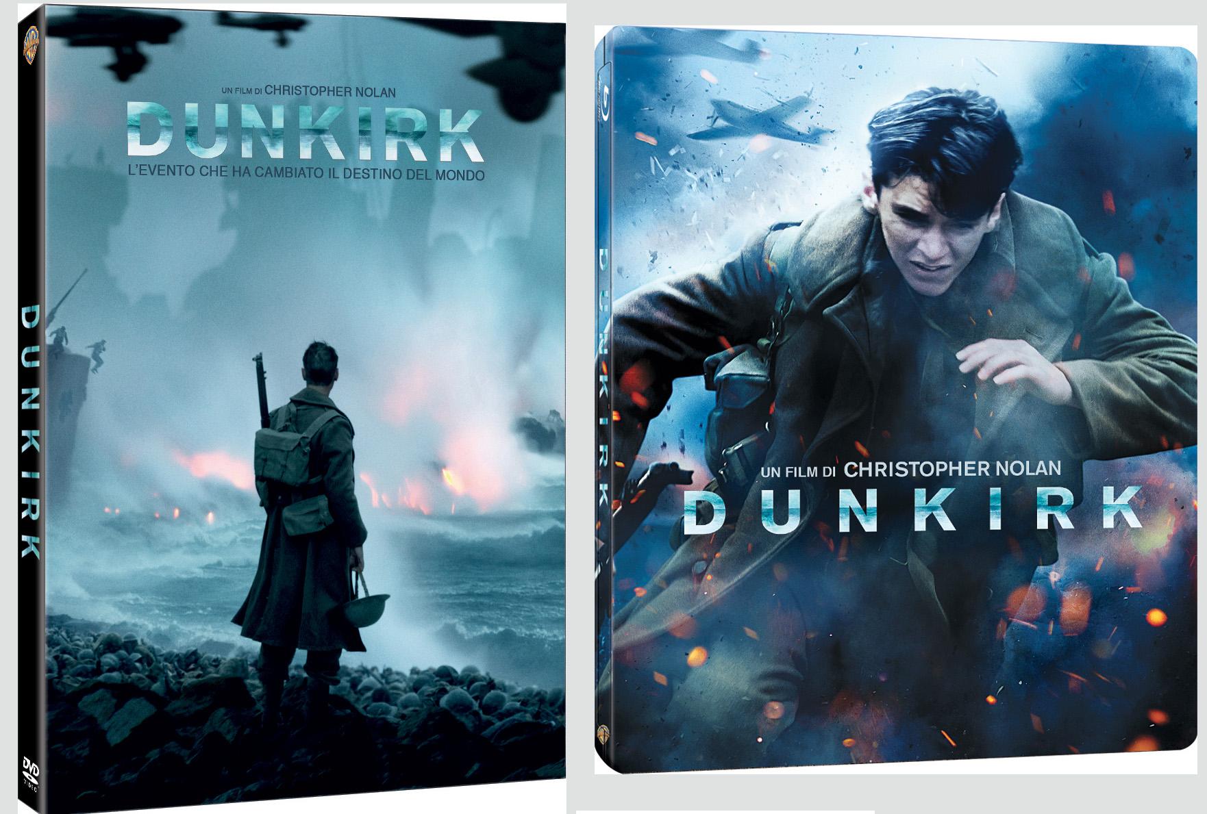 Le cover digibook e steelbook di Dunkirk