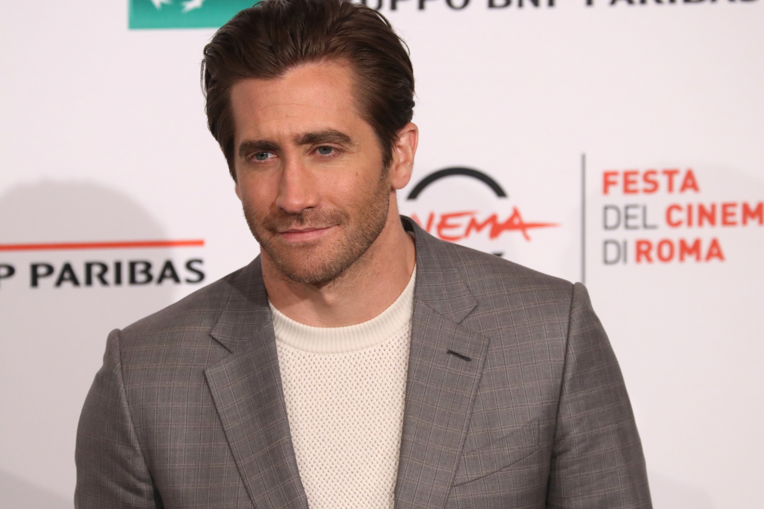 Roma 2017: Jake Gyllenhaal in posa al photocall del film Stronger