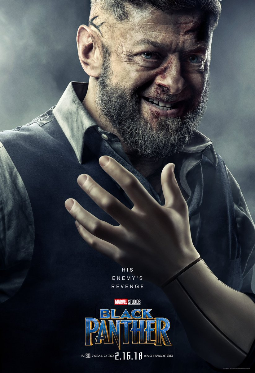 Black Panther: il character poster di Andy Serkis