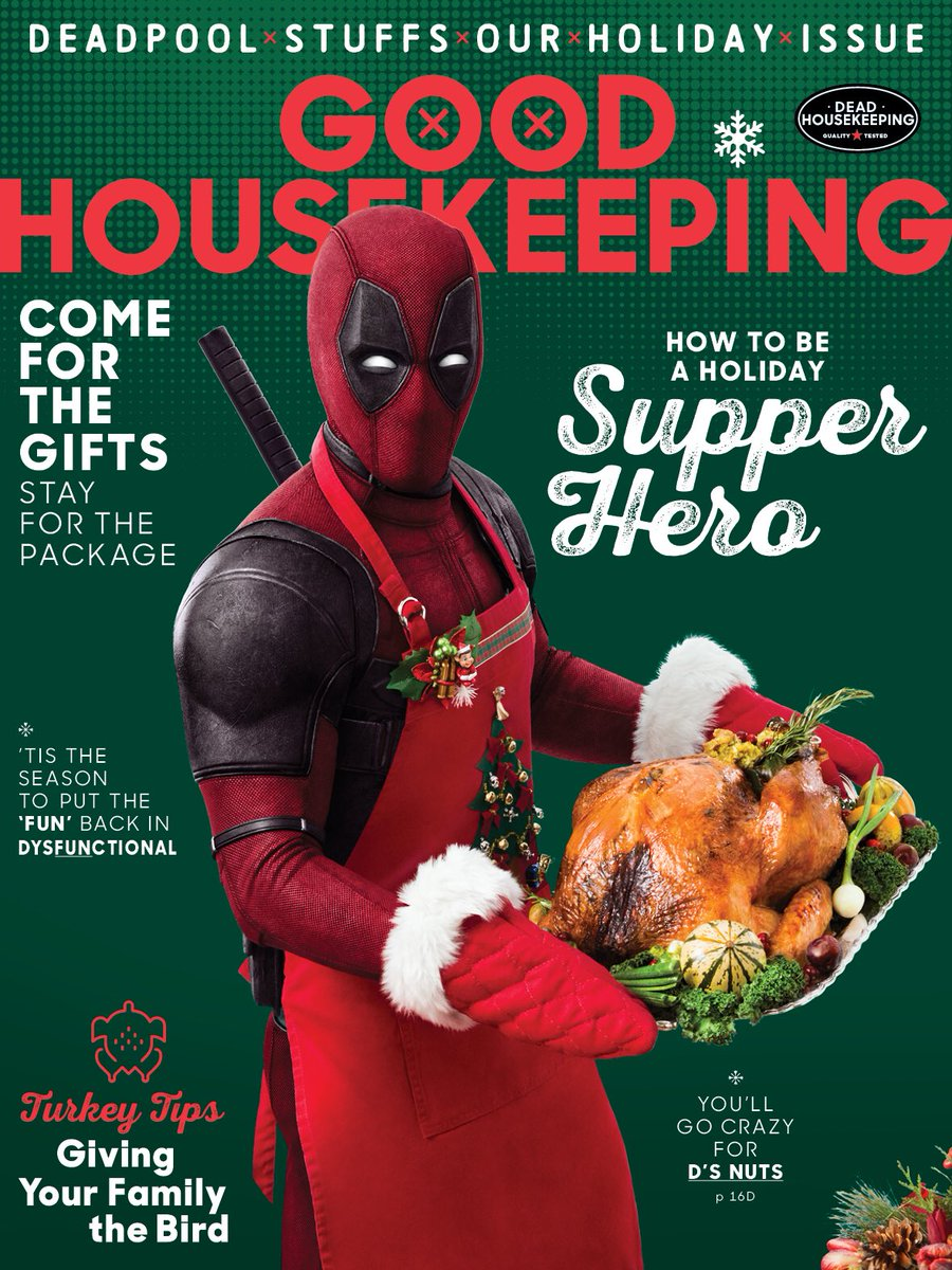 Deadpool 2 sulla cover di Good Housekeeping