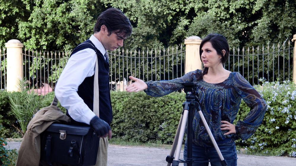 Il figlio sospeso: Paolo Briguglia sul set del film