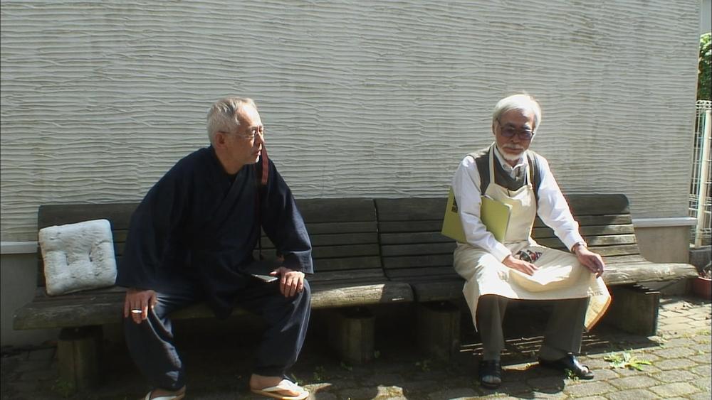 Never Ending Man: Hayao Miyazaki, Miyazaki in un'immagine tratta dal documentario a lui dedicato