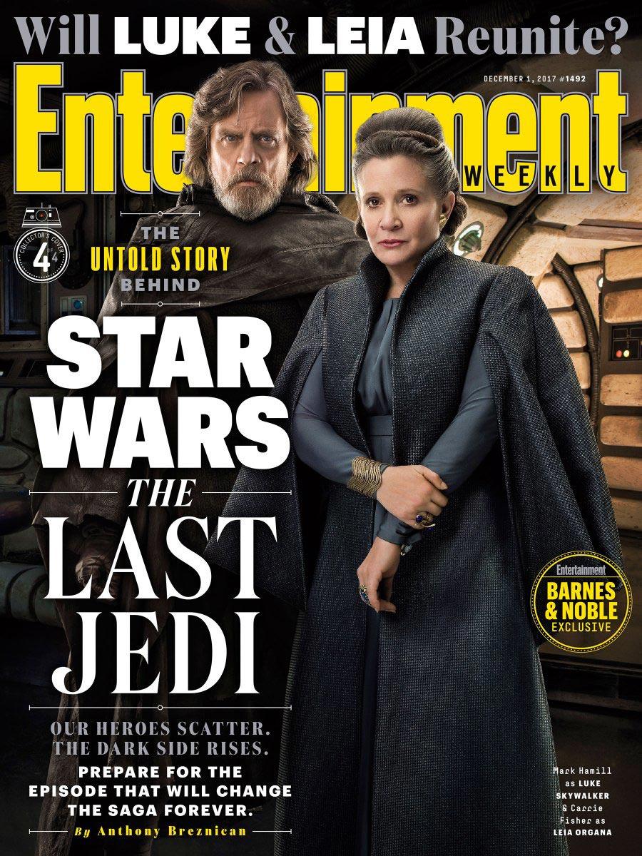 Star Wars: Gli Ultimi Jedi - La copertina dedicata a Carrie Fisher e Mark Hamill