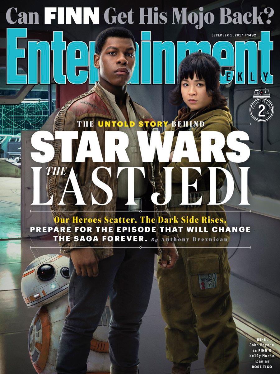 Star Wars: Gli Ultimi Jedi - La copertina dedicata a John Boyega e Kelly Marie Tran