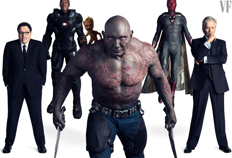 Avengers: Infinity War, una delle foto dei protagonisti tra le pagine di Vanity Fair