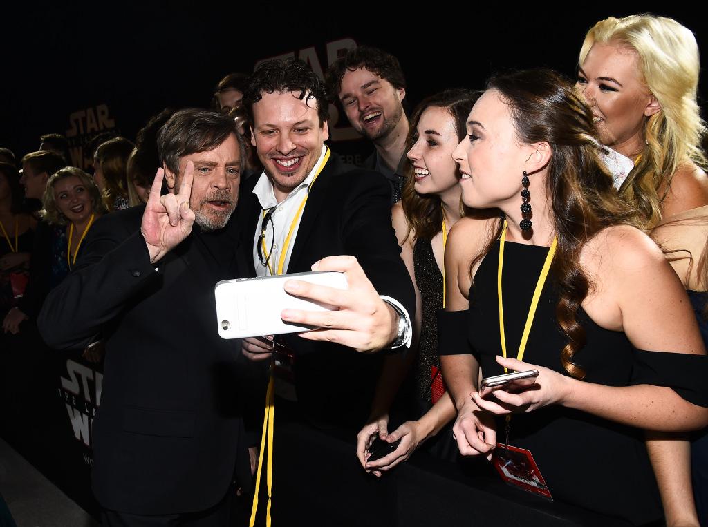 Star Wars: Gli Ultimi Jedi,  Mark Hamill alla premiere