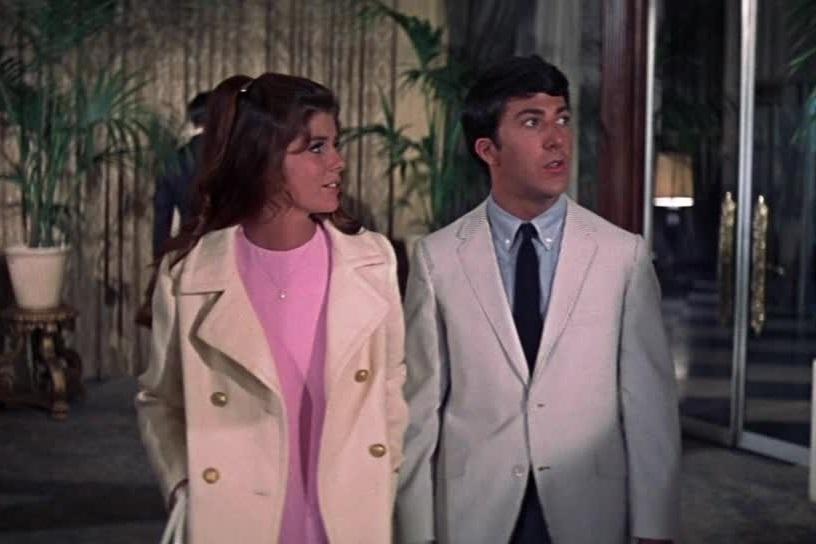 Il laureato: Dustin Hoffman e Katharine Ross in una scena del film