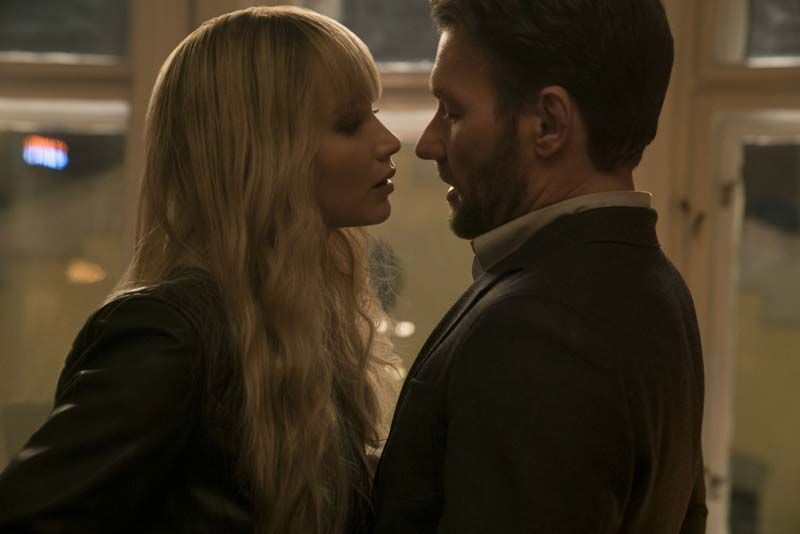 Red Sparrow: Jennifer Lawrence e Joel Edgerton in una scena