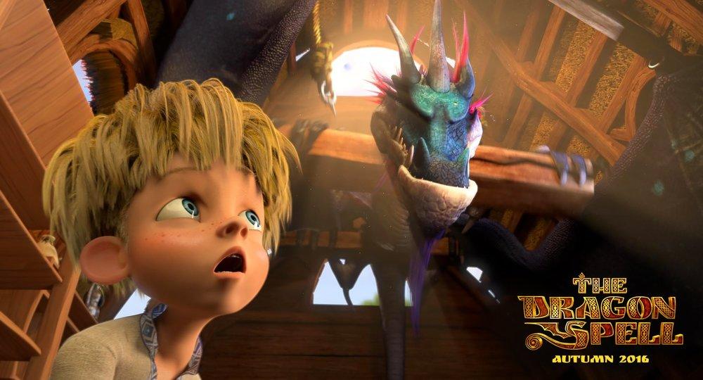 L'incantesimo del drago: un'immagine tratta dal film animato