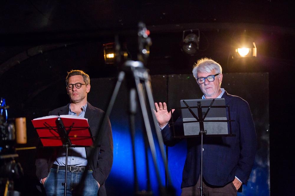 Pertini - Il combattente: Ricky Tognazzi e Massimo Poggio sul set del film
