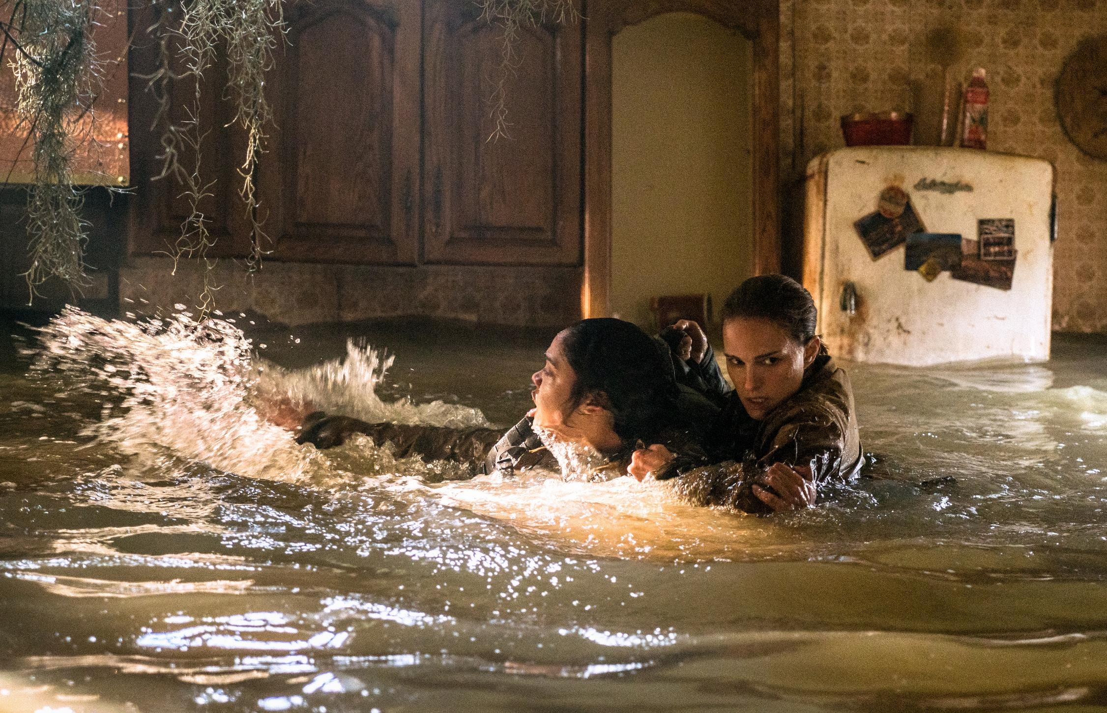 Annientamento: Tessa Thompson e Natalie Portman in una scena del film