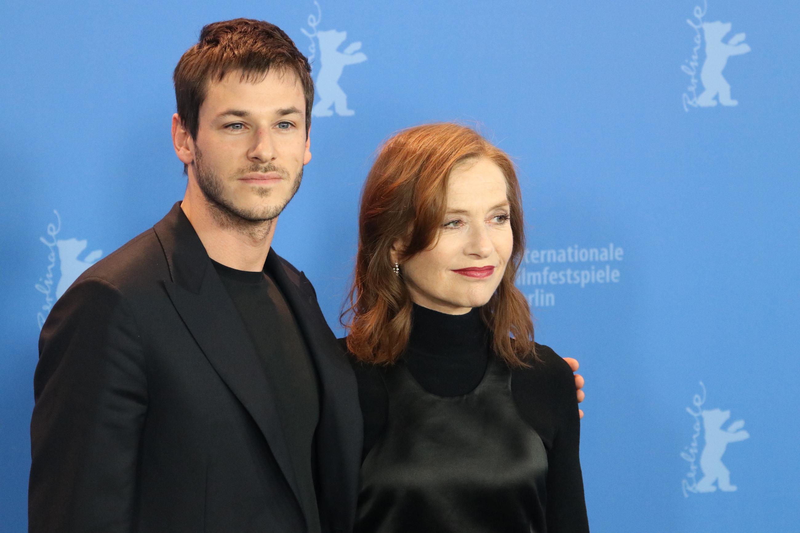 Berlino 2018: Gaspard Ulliel e Isabelle Huppert al photocall di Eva