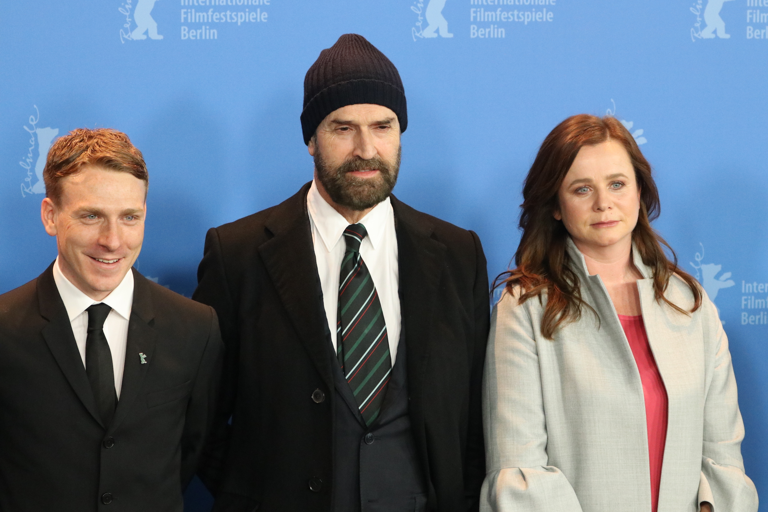 Berlino 2018: Emily Watson, Rupert Everett, Edwin Thomas al photocall di The Happy Prince
