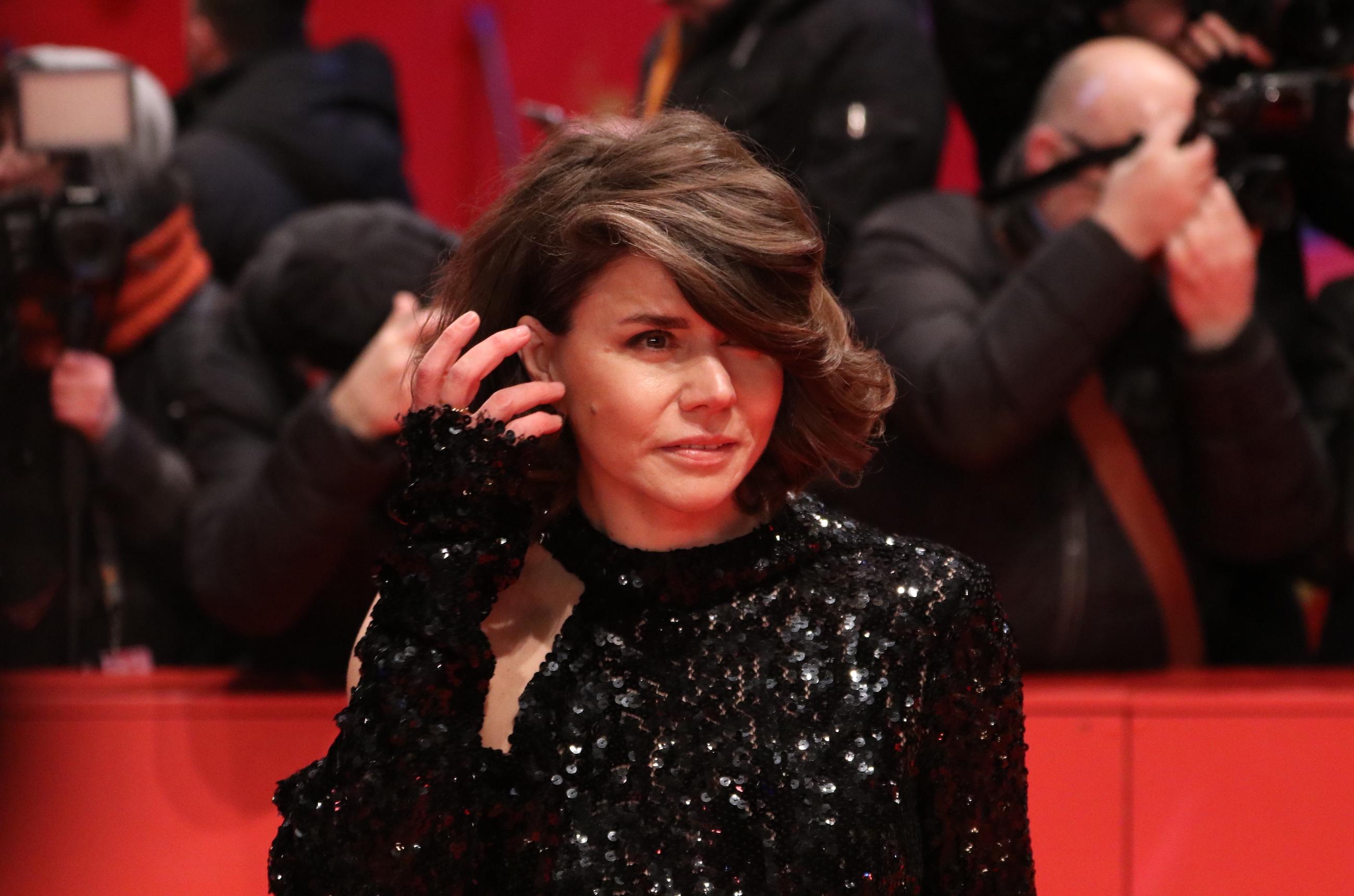 Berlino 2018: Małgorzata Szumowska sul red carpet della cerimonia di premiazione