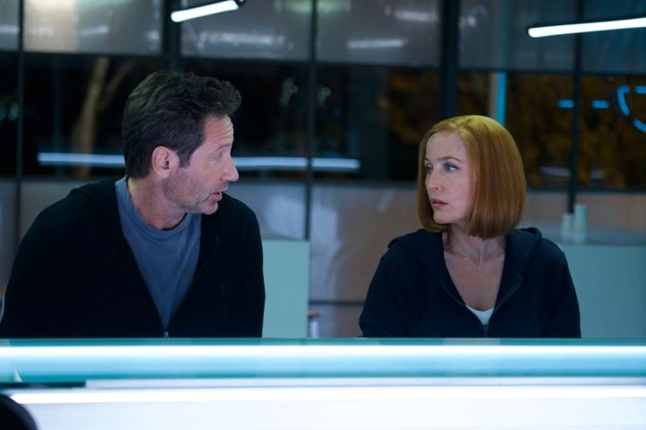 X-Files: David Duchovny con Gillian Anderson nell'episodio Rm9sbG93ZXJz