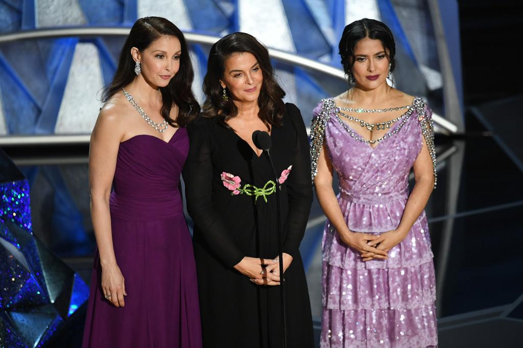 Oscar 2018: Salma Hayek, Ashley Judd, Annabella Sciorra