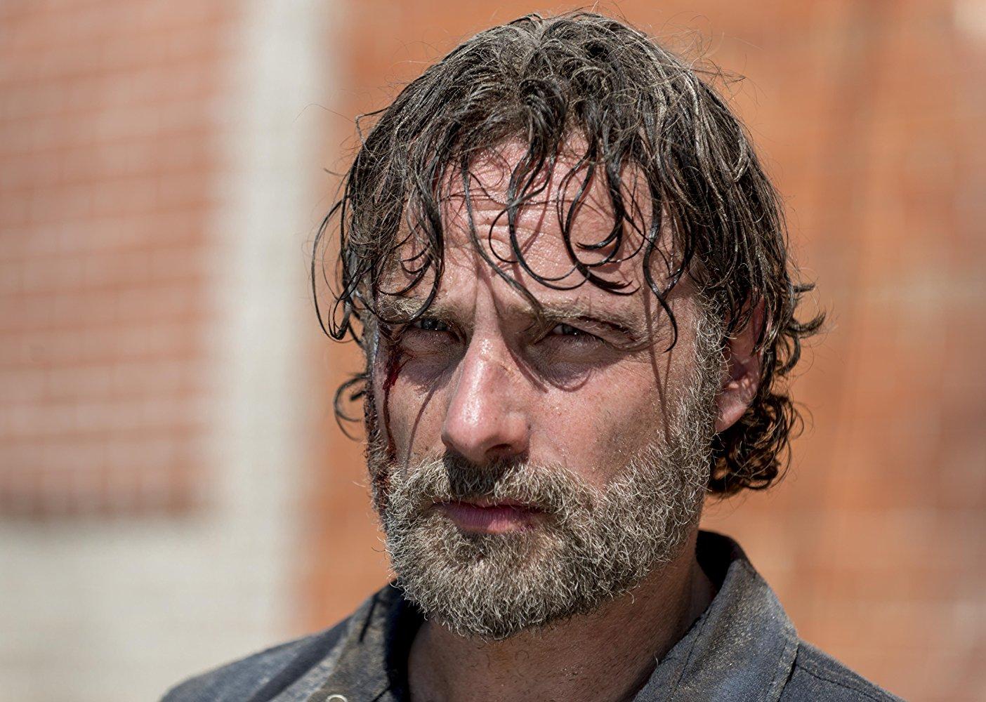 The Walking Dead: un primo piano di Andrew Lincoln nell'episodio The Key