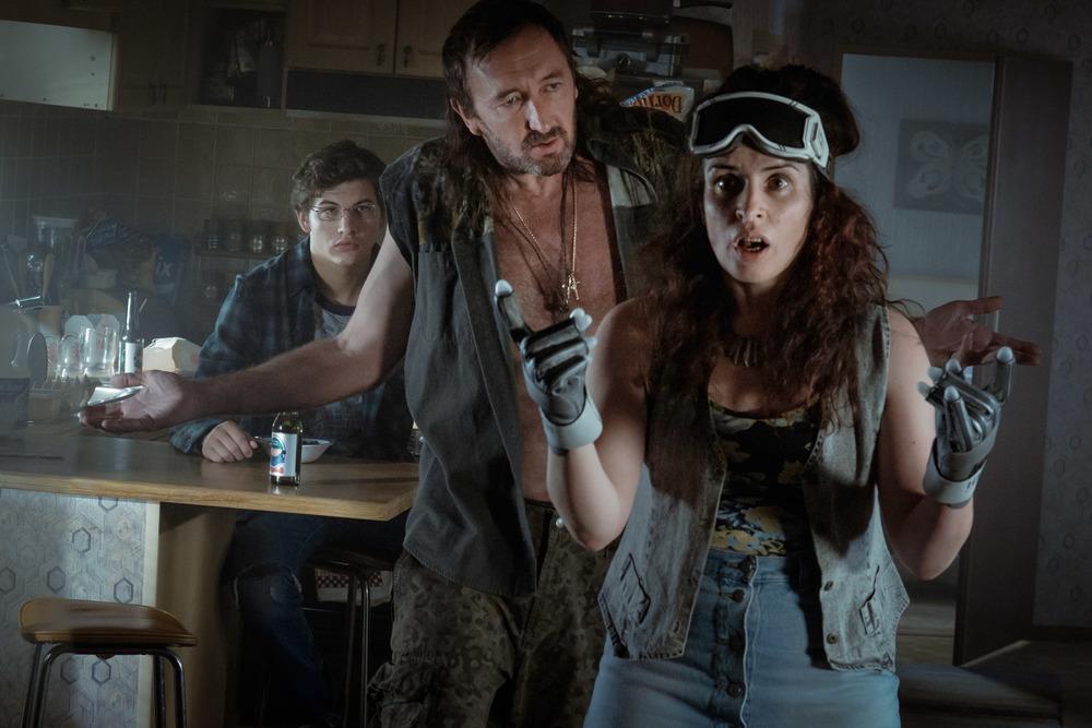 Ready Player One: Tye Sheridan, Ralph Nelson e Susan Lynch in una scena del film