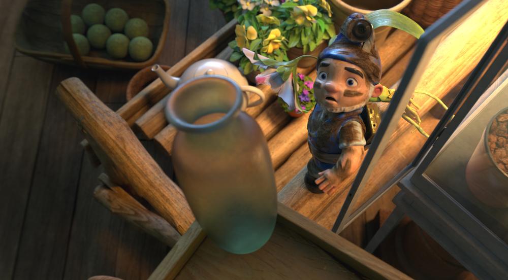 Sherlock Gnomes: una scena del film animato