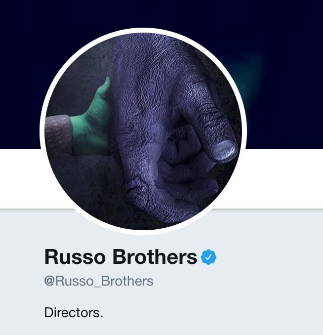 Avengers: Infinity War, la nuovo foto profilo dei fratelli Russo su Twitter