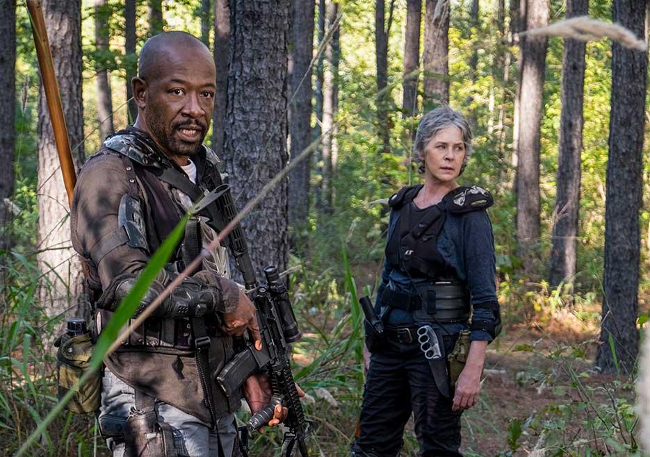 The Walking Dead: Lennie James e Melissa McBride in una foto di Still Gotta Mean Something