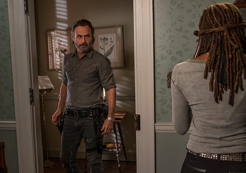 The Walking Dead: Andrew Lincoln e Danai Gurira in una foto di Still Gotta Mean Something
