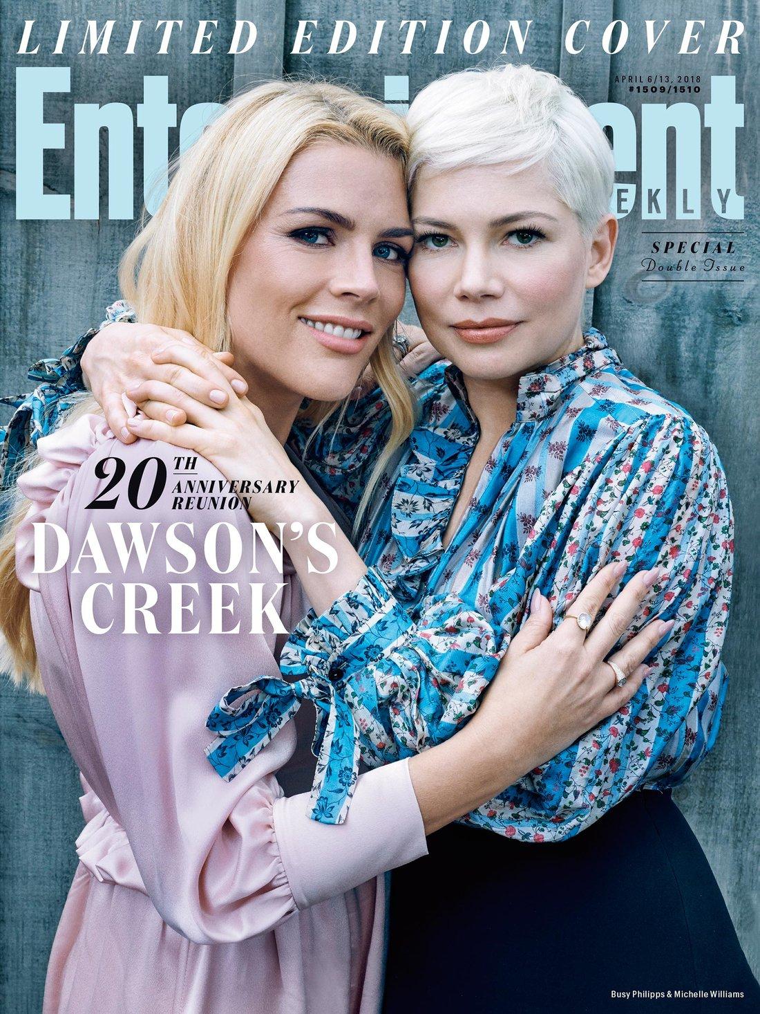 Dawson's Creek: Michelle Williams e Busy Phillips sulla cover di EW