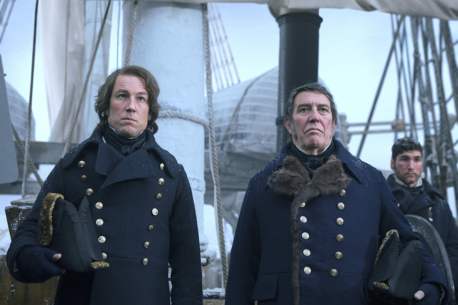 The Terror: Ciaran Hinds insieme a Tobias Menzies in una scena