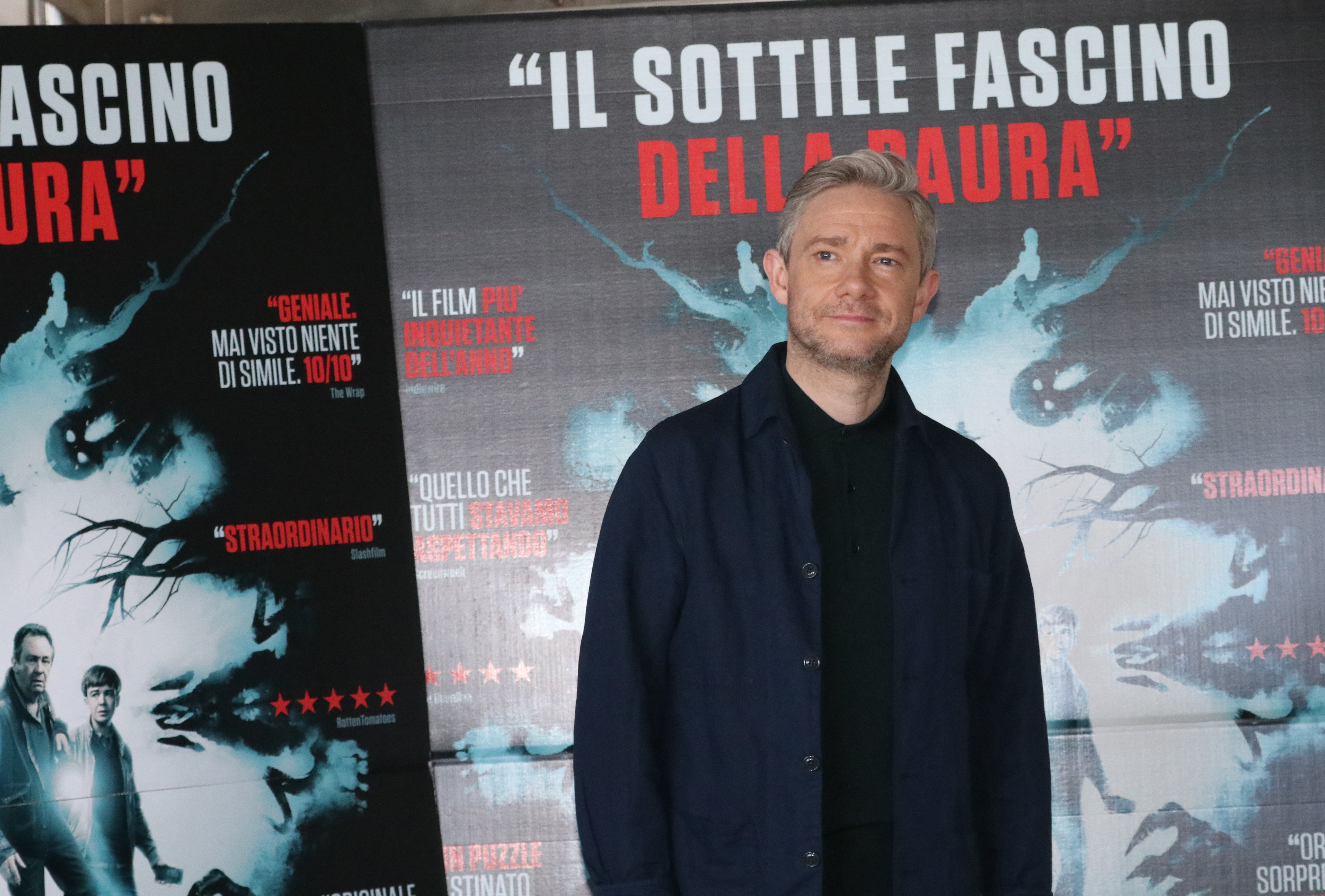 Martin Freeeman a Roma al photocall di Ghost Stories