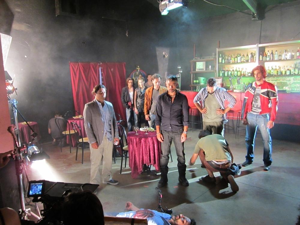 La banalità del crimine: un'immagine dal set