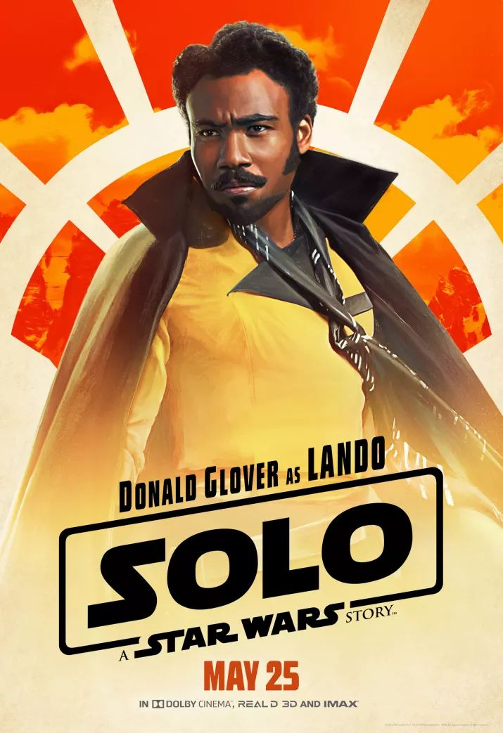 Solo: A Star Wars Story, il character poster di Donald Glover