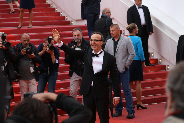 Cannes 2018: uno scatto di Roberto Benigni sul red carpet di Lazzaro Felice
