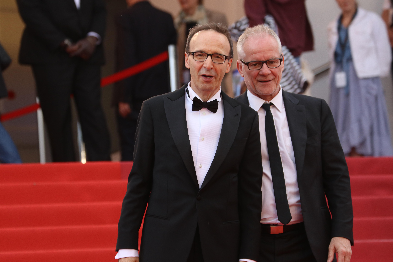 Cannes 2018: Roberto Benigni sul red carpet di Lazzaro Felice