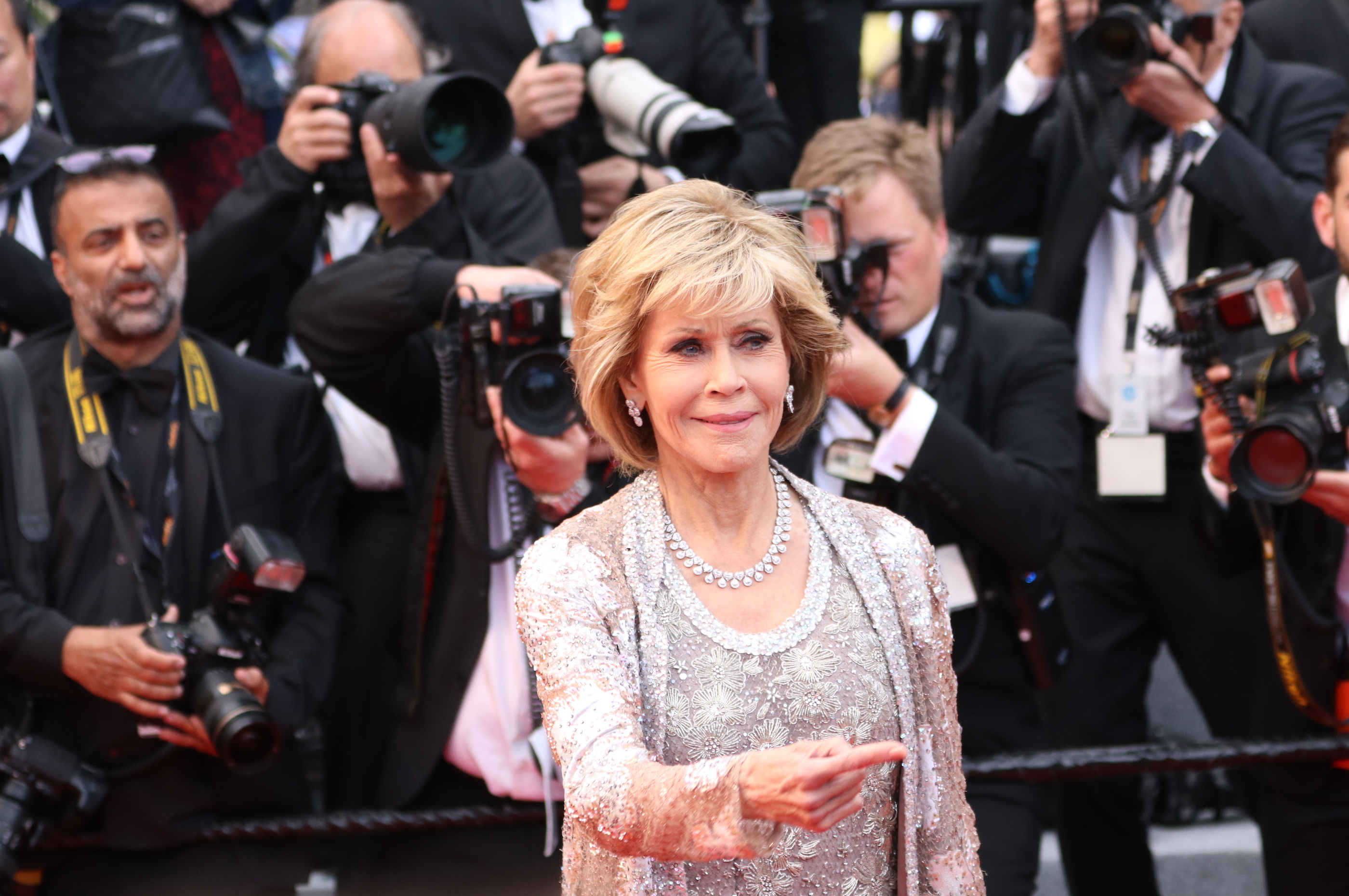 Cannes 2018: uno scatto di Jane Fonda sul red carpet di Blackkklansman