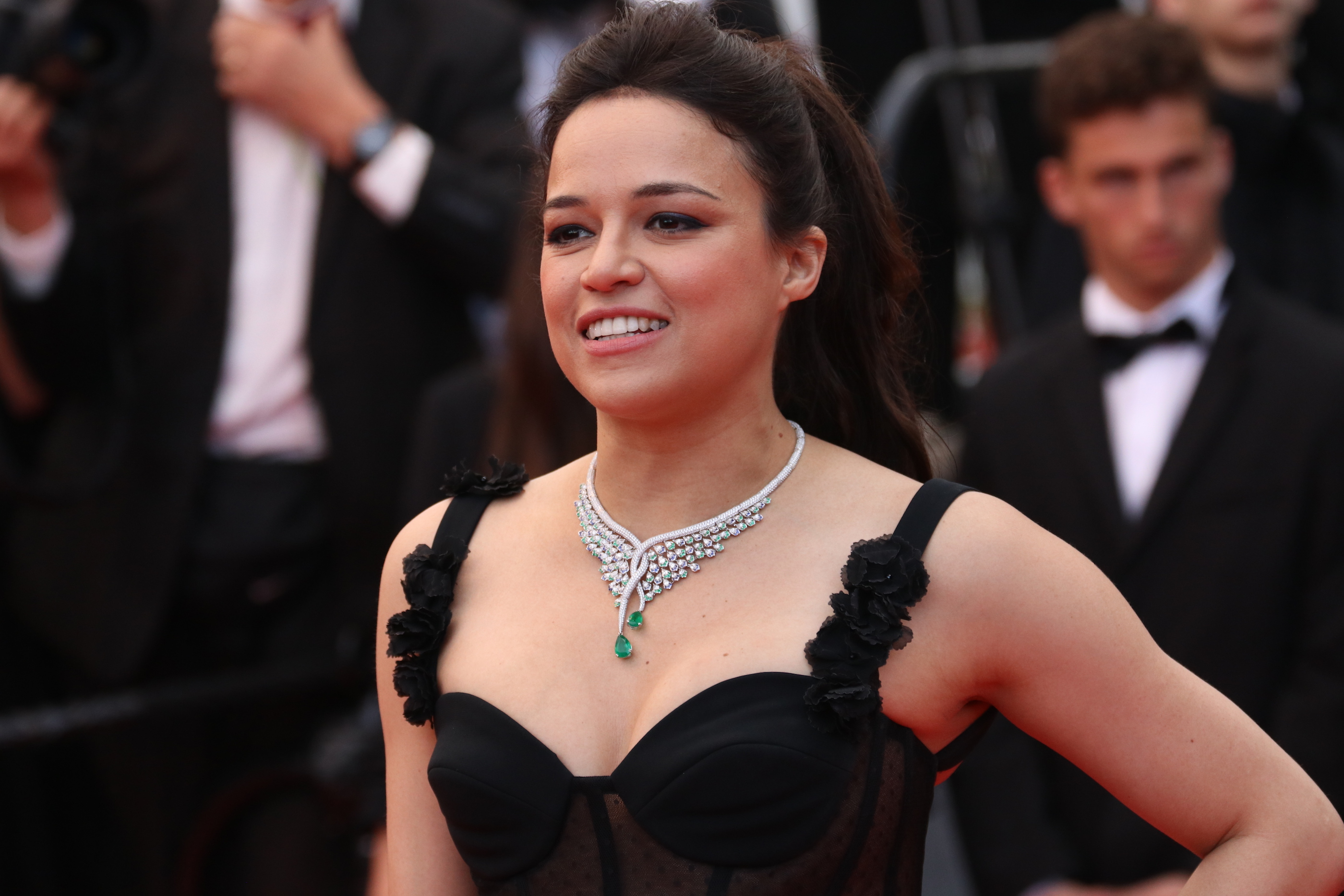 Cannes 2018: Michelle Rodriguez sul red carpet di Blackkklansman
